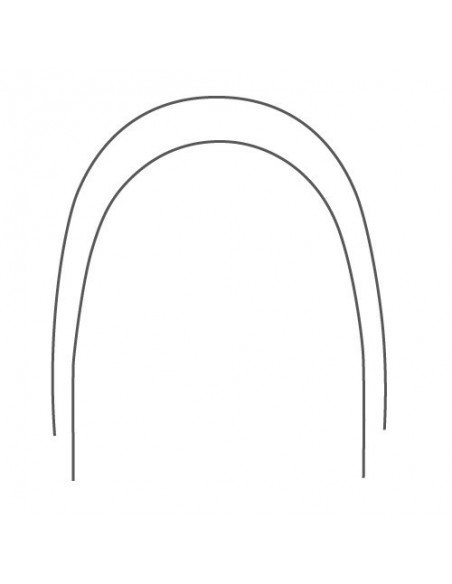 NiTi Térmico rectangular FORMA NATURAL 10 ud.