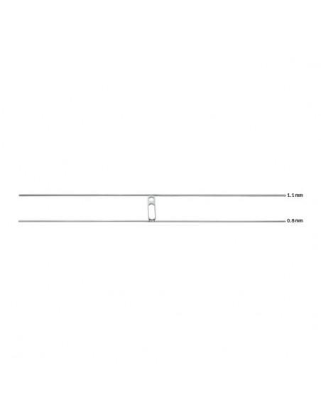 Anka Plate corto con doble alambre (12cm) de 0.8mm + 1.1mm (33-54475)